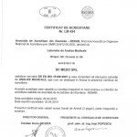 Certificat RENAR