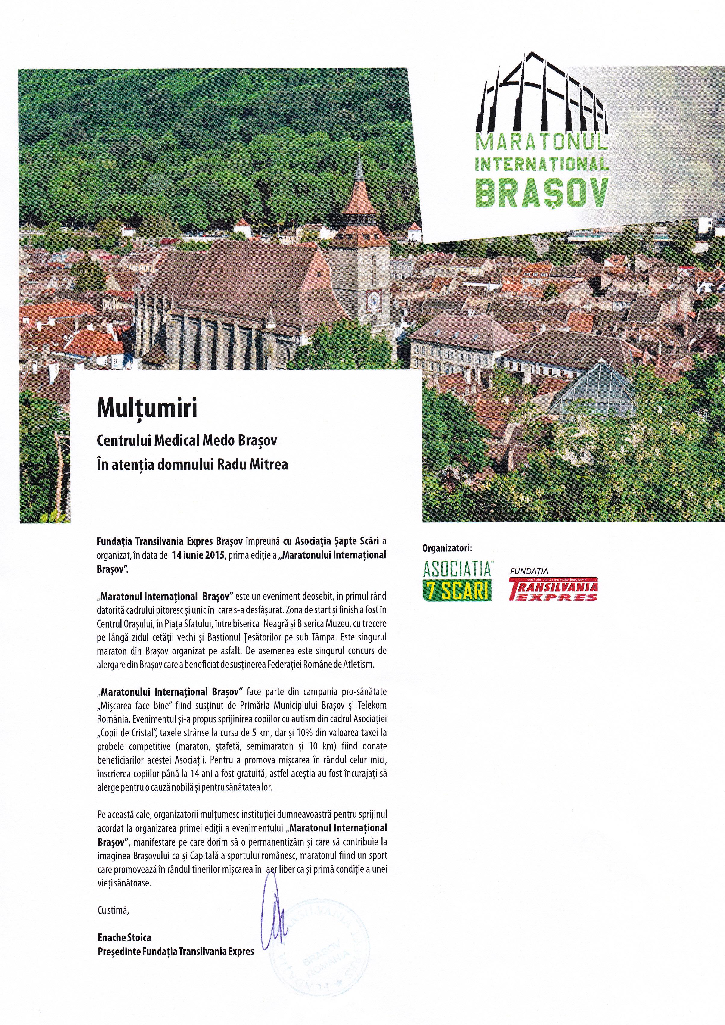 Maratonul Internațional din 14 iunie 2015 de la Brașov