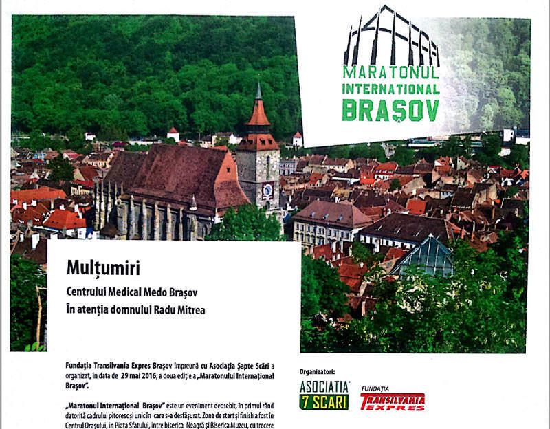 Participare la Maratonul International din 29 mai 2016 de la Brasov